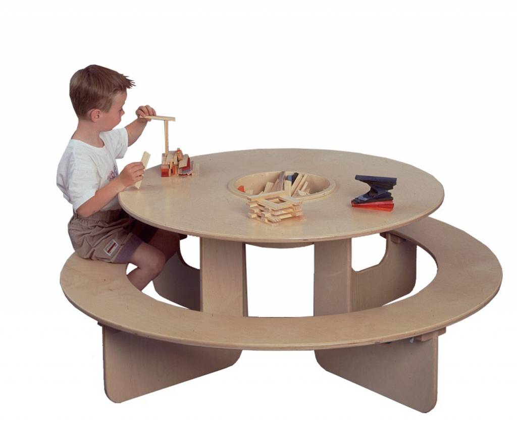 Table ronde pour enfant for Table de jardin enfants