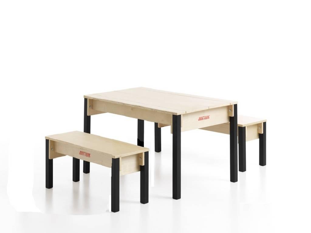 Table avec coffre de rangement pour enfants - Table enfant avec rangement ...