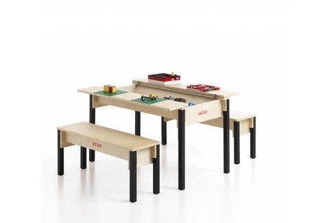 Table avec coffre de rangement pour enfants - Fabriquer un coffre a jouets simple et rapide en bois ...