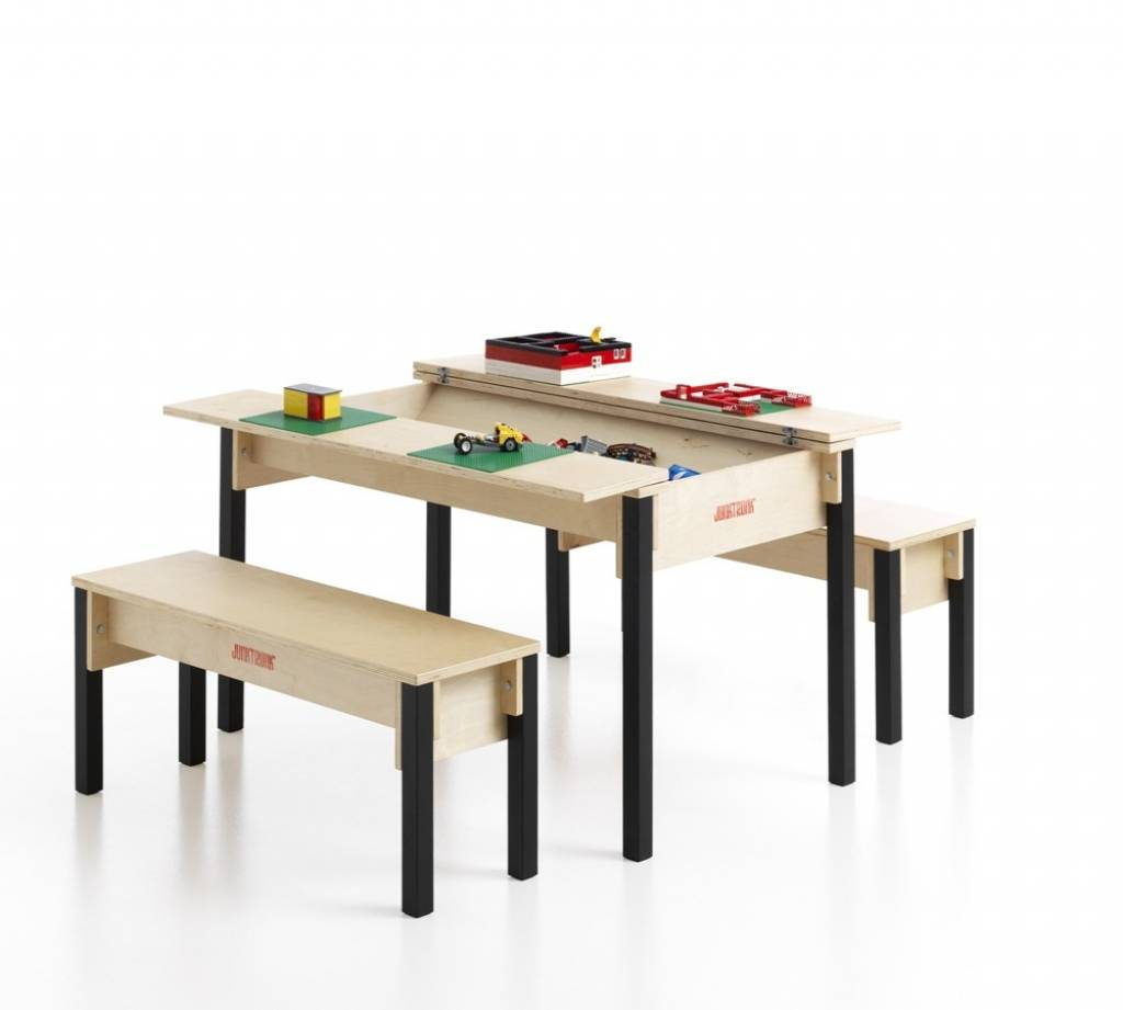 Table avec coffre de rangement pour enfants -