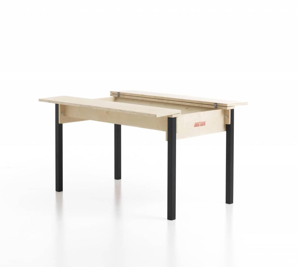 table avec coffre de rangement pour enfants. Black Bedroom Furniture Sets. Home Design Ideas