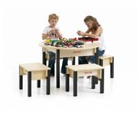 table de jeux en bois. Black Bedroom Furniture Sets. Home Design Ideas