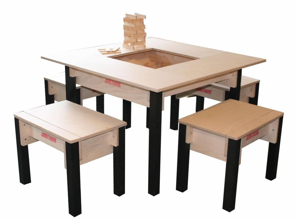 table enfant avec rangement carr e. Black Bedroom Furniture Sets. Home Design Ideas