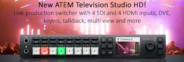 New ATEM Television Studio HD!
