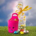 """Collectie goedkope Paas attenties 2017 │ Paas attenties met thema """"Easter Bucket"""" (verpakt in een transparant Paas zakje met decoratief lint)"""