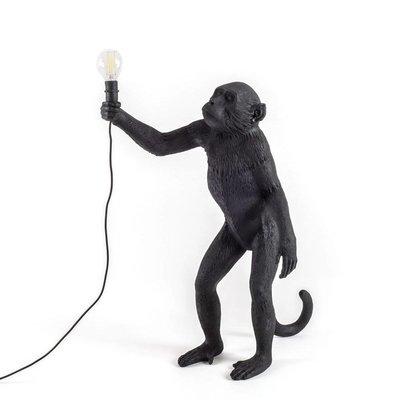 Zwarte staande monkey lamp