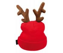 Günstige Weihnachtsmützen rot Rentier mit Rentiergeweih kaufen?