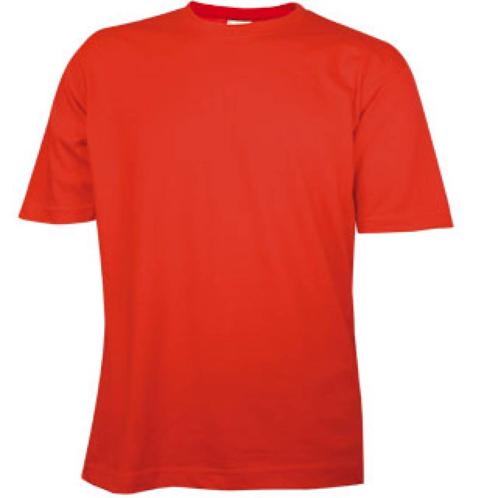 T shirts in red with round neck and short sleeves 100 for Really cheap custom shirts