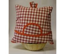 Дизайн Cosy кожа Фермерите Холандия червено каре