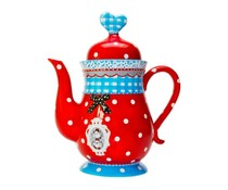Koekepeer! Theepot Koekepeer Cup & Saucer Red met tekst 'It's a beautiful day'