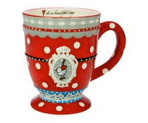 Koekepeer! Mok Koekepeer Big mug Red met thema 'It's a beautiful day'