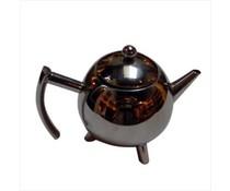 Trendy Teekanne in einer silbernen Farbe (Größe 165 x 165 x 185 mm)