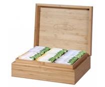 ♣ Изпълнен шест отделение чай гърдите с Брадли Fair Trade & Organic чай