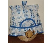 Уютна тематични Holland Delft синьо (включително плетената кошница и съвпадение чорапогащи)
