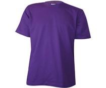 Goedkope paarse T-shirts kopen? Paarse T-shirts met ronde hals en korte mouw (100% katoen)