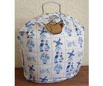 Дизайн чай панаир в Делфт син печат (Holland стария дизайн)