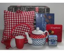 """Tip! Kado Idee? High Tea Theme-Paket """"Cosy niederländischen Bauern Fell Red Square"""""""