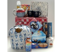 """Tip! Kado Idee? High Tea Themapakketten """"Theebeurs Holland Delfts Blauw"""" breukvoorkomend verpakt met papierwol in een bijpassende geschenkdoos!"""