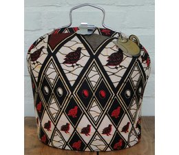 Design Theebeurs met speciale Batik stof in de kleuren zwart, beige, rood en geel kopen?