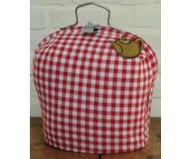 Design theepot warmer met boeren bont ruitje (rood en wit)