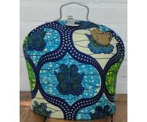 Дизайн чай чантата с дамаска Batik с зелени и сини акценти