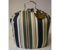 Design Theebeurs met blauwe en groene strepen