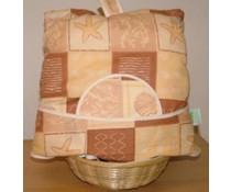 Дизайн Cosy с морски звезди (включително кошница ракита и съвпадение чорапогащи)
