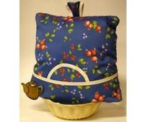 Design Theemuts blauw met vruchten