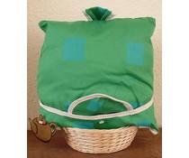 Design Teewärmer grün mit blauen Akzenten