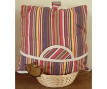 Дизайн Cosy с ярки цветни вертикални ивици (вкл. Wicker кошница и съвпадение чорапогащи)