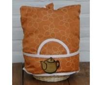 Design Theemuts in de kleur oranje met accenten