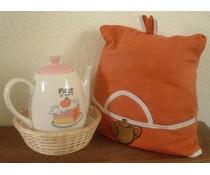 Уютен дизайн в оранжево с светло бежово акценти (вкл. Плетената кошница и съвпадение чорапогащи)
