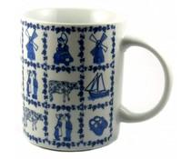 Delftsblauwe mokken met Oud Hollandse blauwe tegelprint