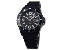 Goedkope horloges kopen? Trendy horloge in de kleur zwart met datumaanduiding (incl. 1 jaar garantie)