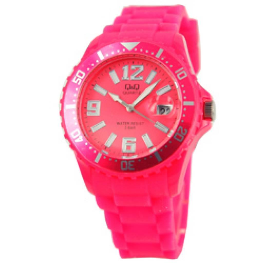 goedkope horloges kopen montre tendance acheter de couleur rose avec affichage de la date. Black Bedroom Furniture Sets. Home Design Ideas