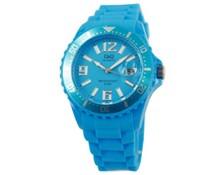 Goedkope horloges kopen? Goedkope trendy horloges in de kleur lichtblauw (voorzien van een datum aanduiding)