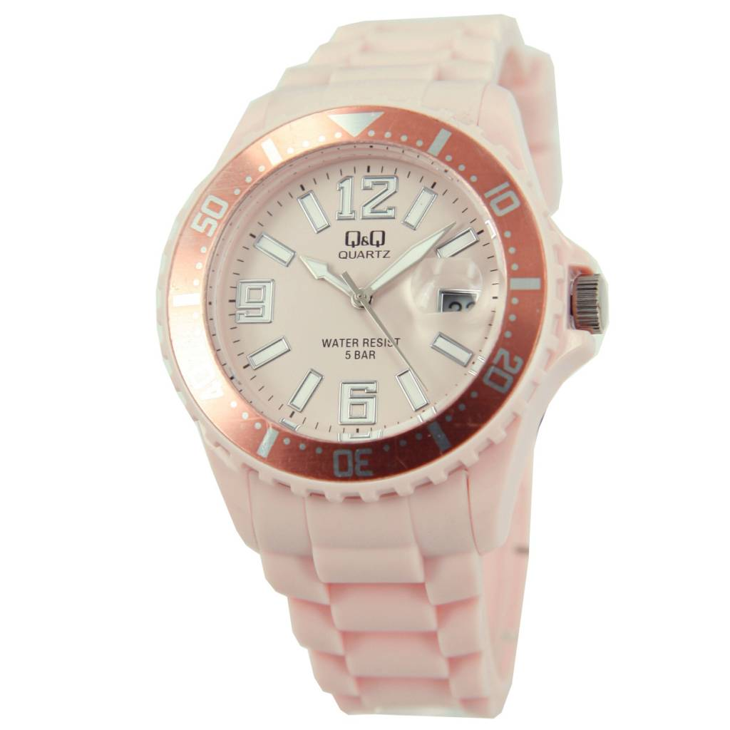Goedkope horloges kopen? Cheap fashionable watches in the color light pink buy?   Professional