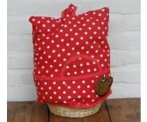Мода Уютна, червено с бели точки