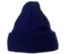 Трикотажни сини зимни шапки