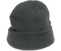 Gestrickte grauen Winter Hüte