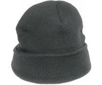 Плетени сиви зимни шапки