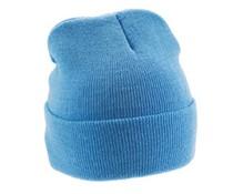 Hellblau gestrickte Wintermützen (erwachsene Größe)