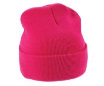 Gestrickte Wintermützen in der Farbe pink (erwachsene Größe)
