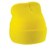 Pop Yellow knitted rmutsen (uni adult size, stretchable, 100% acrylic)