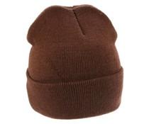 Плетена кафява зимни шапки