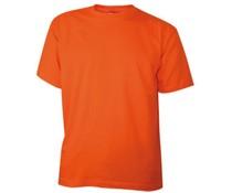 Katoenen oranje T-shirts in kindermaten en volwassen maten