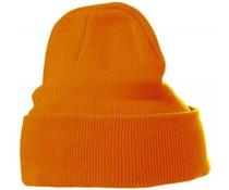 Евтини оранжеви плетени зимни шапки (размер за възрастни)