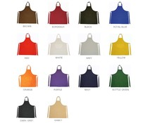 Professionell kökförkläde med justerbar hals och förvaringsfack (storlek 75 x 85 cm, 65% polyester / 35% bomull)