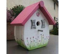 Design Vogelhuizen Kado Idee Nederland collectie 2017 │ Направи къщичка ръка и боядисани (височина 27 cm, ширина 25, дълбочина 17 cm)