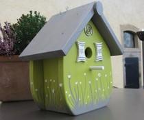 Design Vogelhuizen Kado Idee Nederland collectie 2017 │ Birdhouse Hand gefertigt und bemalt (Höhe 27 cm, Breite 25, Tiefe 17 cm)